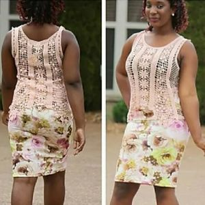 Moa Multi-Colored Floral Pencil Skirt